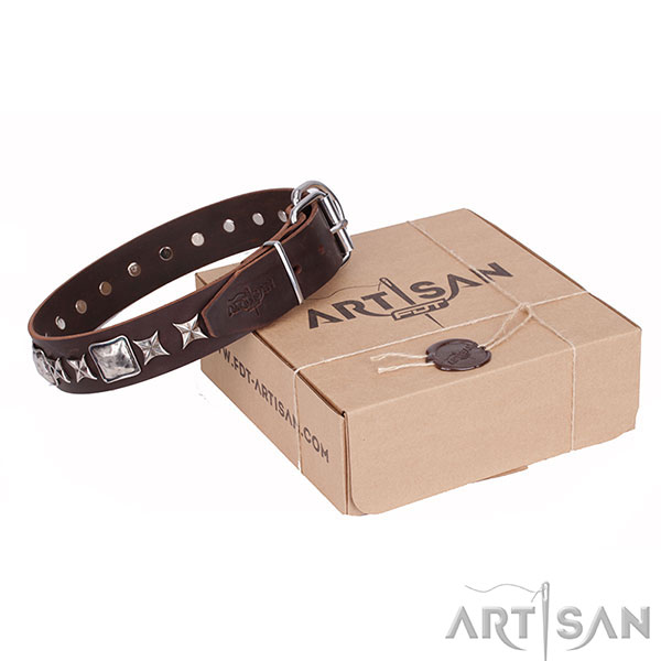 Best Quality Leather Dog Collar of Artisan Design