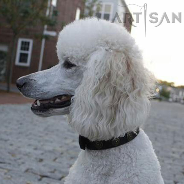 Trendy Poodle Collar Made of Soft Leather