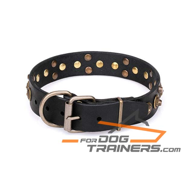 Royal Design Dog Collar with Super Strong D-Ring