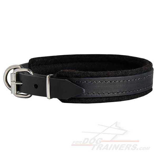 Durable Leather Dog Collar Fittings Stitched