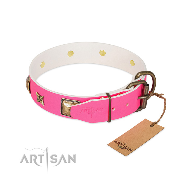 Handmade Dog Collar Equipped with Durable Hardware
