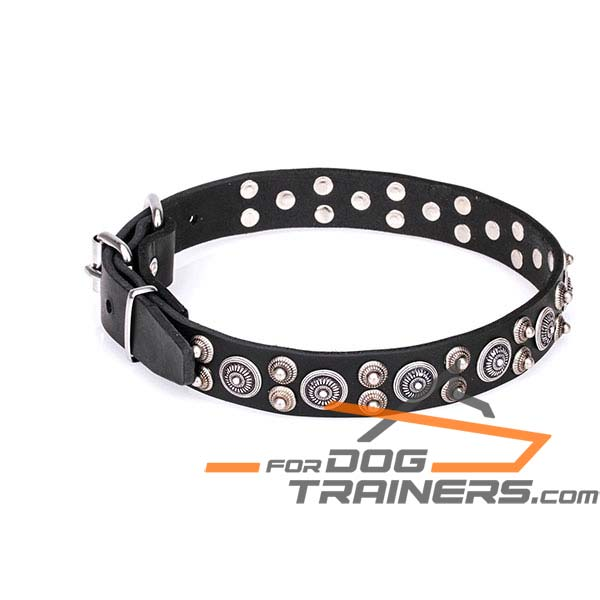 Extra Strong Leather Dog Collar