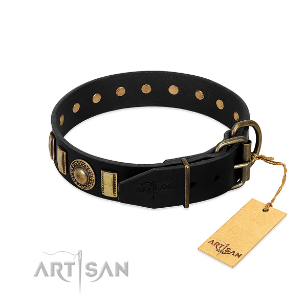 FDT Artisan leather dog collar won't cut into skin