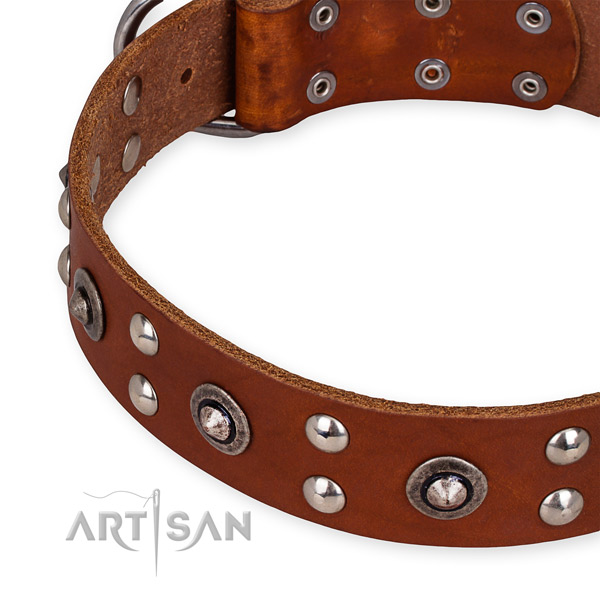 Top quality Leather Dog Collar