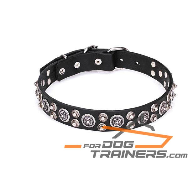 Leather Dog Collar for Safe Walking
