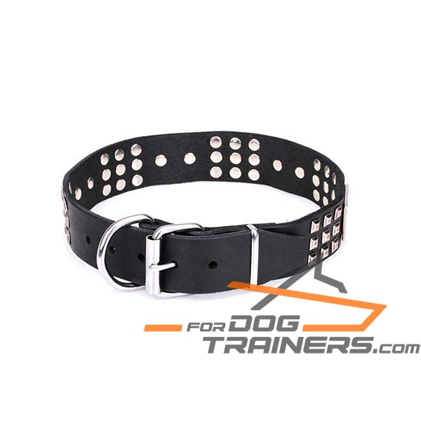 Leather Dog Collar for Reliable Handling