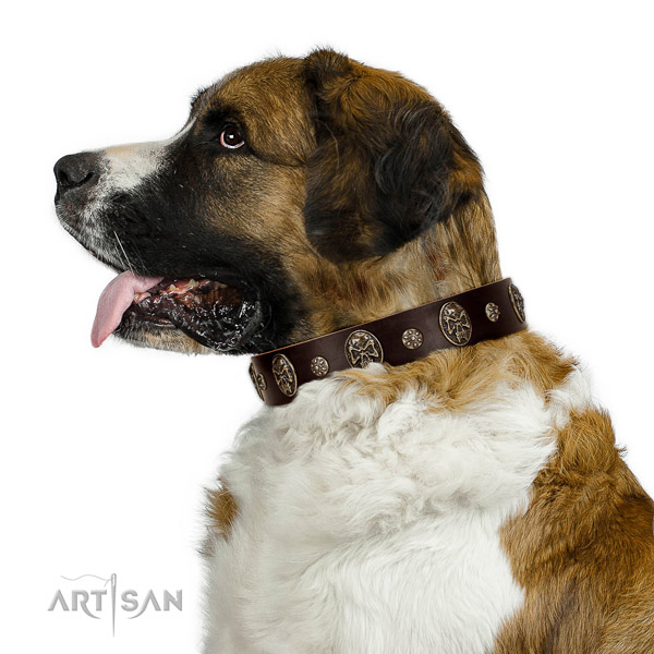 Premium quality Moscow Watchdog Artisan leather collar
