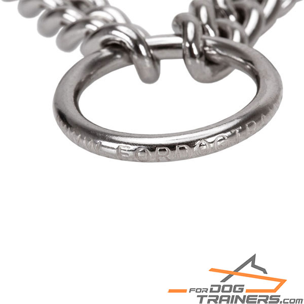 Durable chrome plated O-ring on pinch collar