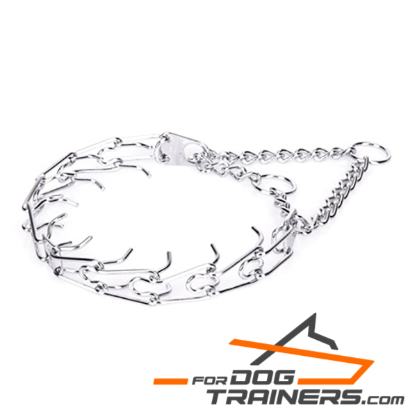 Rust-Resistant Crome Plated Steel Dog Collar