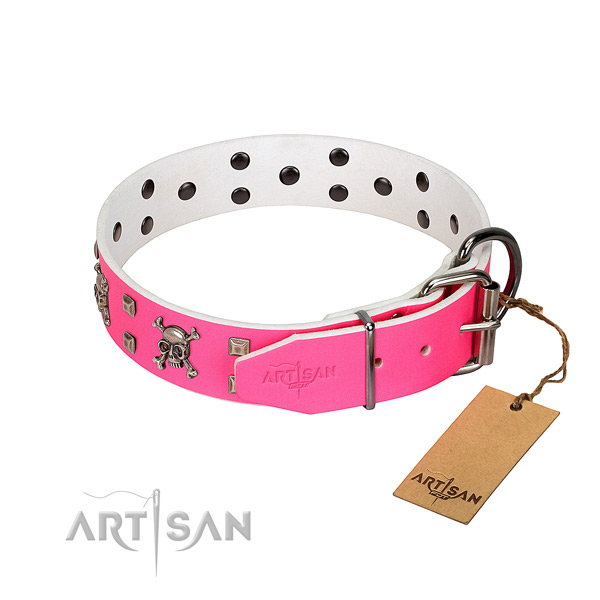 Great leather dog collar is safe for usage