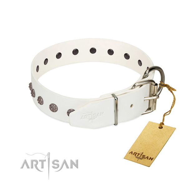 Extra soft leather dog collar delivers just comfort