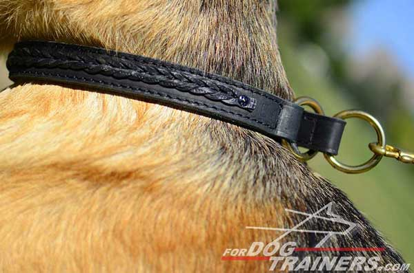 Carefully Hand Stitched With Strong Threads This Dog Collar Will Serve for Years