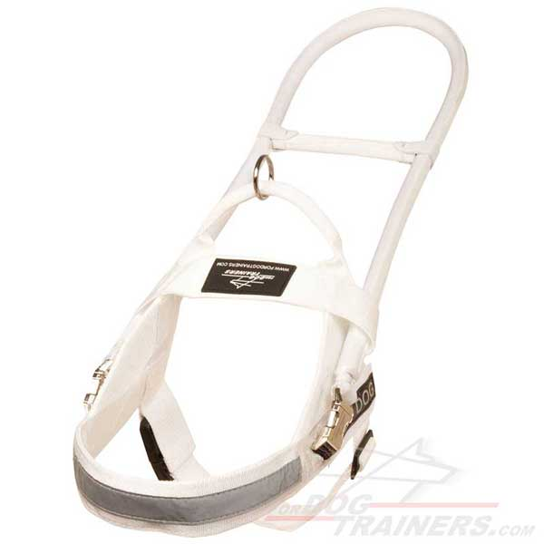 Mobility Assistance Nylon Dog Harness White