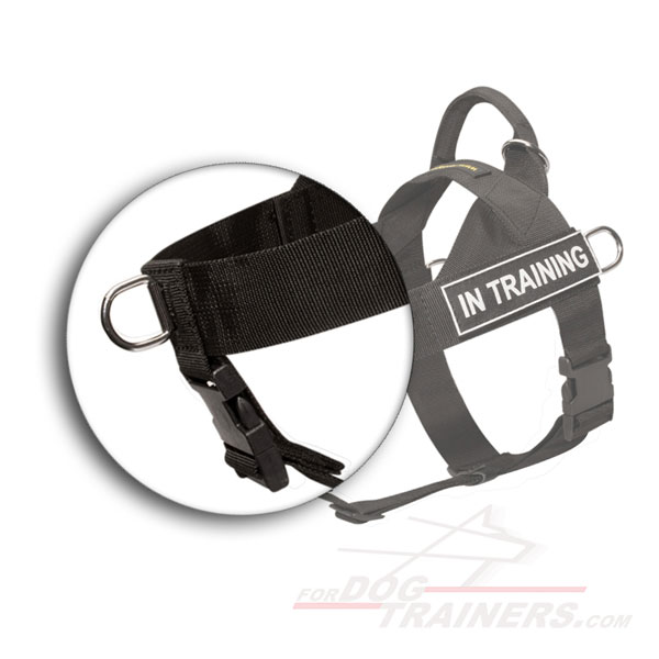 Budget nylon dog harness for police and military service