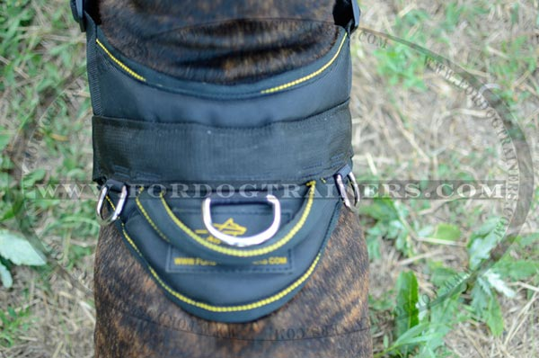 Nylon Durable Handle on Dog Harness Back Plate