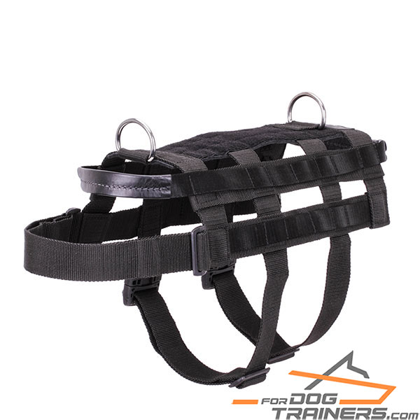 Strong Nylon Working Dog Harness for Intelligence Service