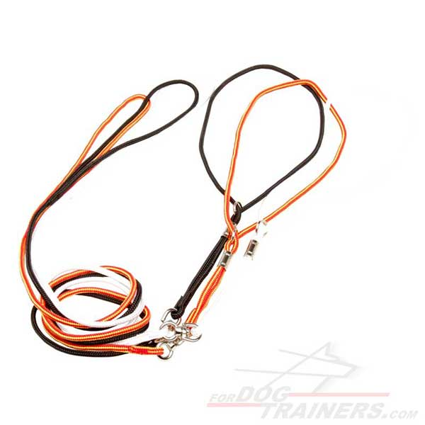 Dog Show Leashes Nylon with Nickel Plated Hardware
