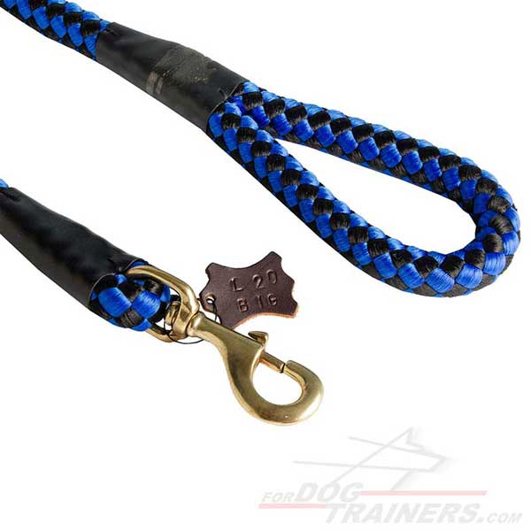 Rustproof snap hook of Nylon Cord Dog Lead