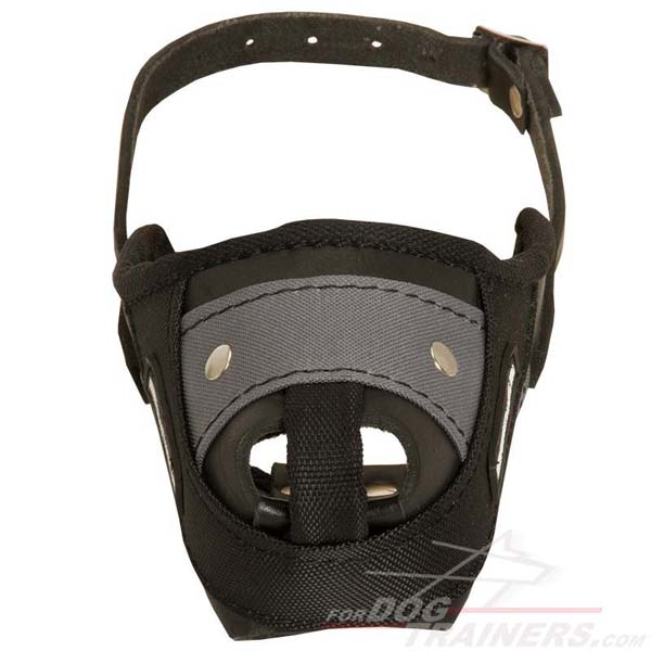 Amazing Leather&Nylon Dog Muzzle