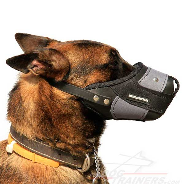 German Shepherd Dog Muzzle Riveted for strength