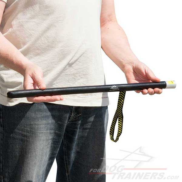 Training Dog Stick with Leather Covered Handle