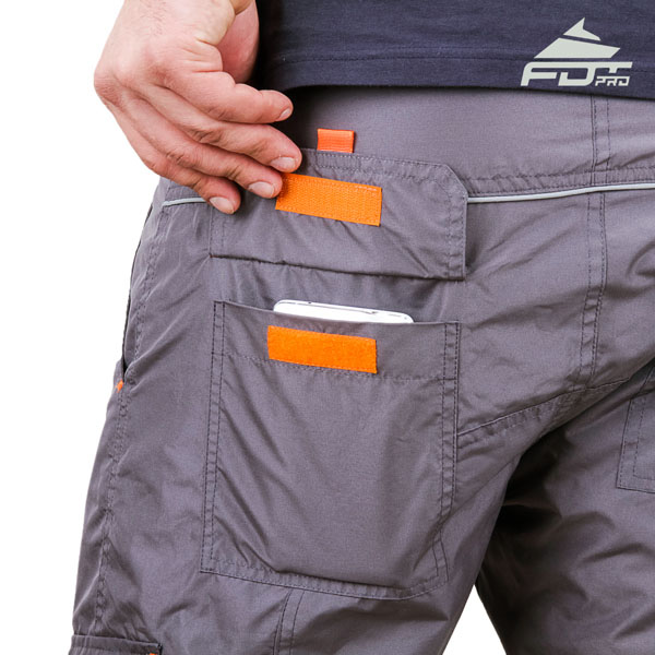 Dog Training Pants with Back Pockets Comfy Design