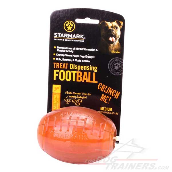 Dog chew ball for dispensing treats and kibble