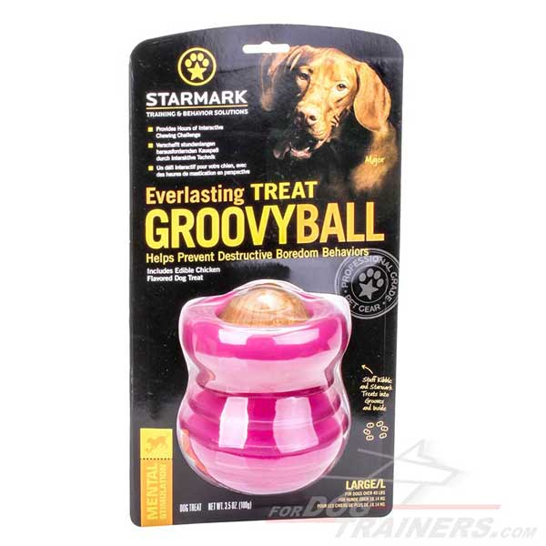 Chew dog toy for dispensing treats and kibble