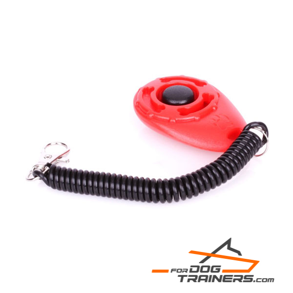 Dog Clicker Training Plastic Coil Spring