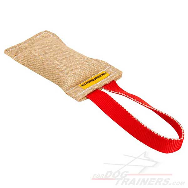 Strong Jute Dog Bite Tag Training Toy