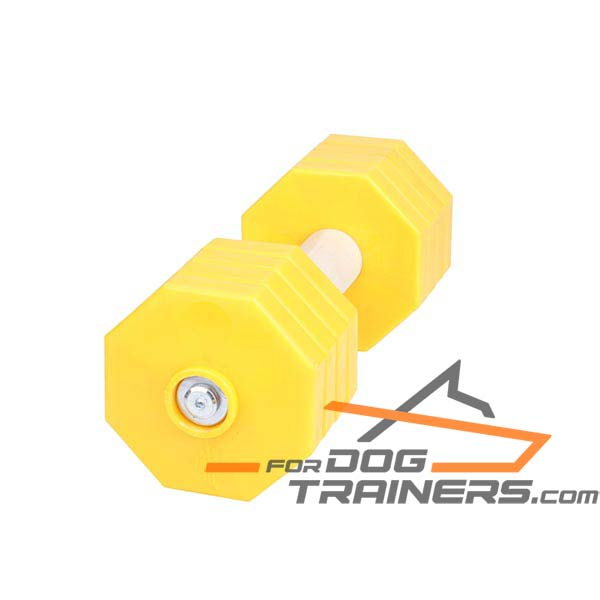 Dog Training Dumbbell Made of Dry Wood
