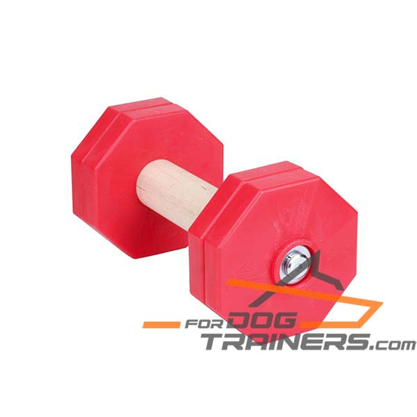Eco-clean Dog Training Dumbbell Made of Dry Wood