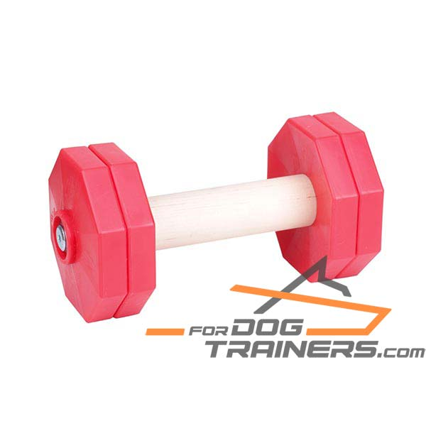Professional Training Wooden Dog Dumbbell