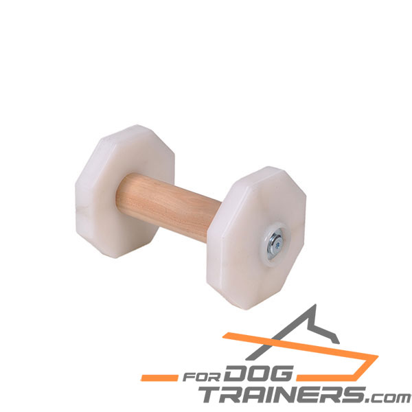 Perfect for Training Dog Dumbbell with Removable Plastic Plates