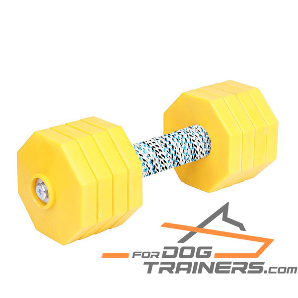 Sturdy Wood Dog Training Dumbbell with 8 Removable plates