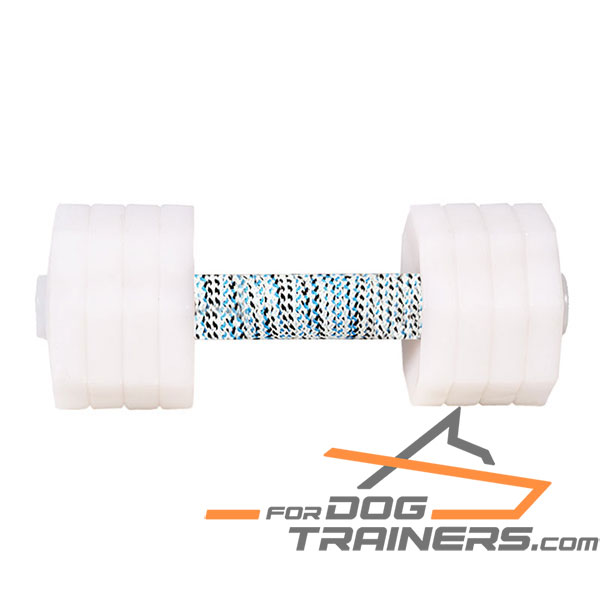Wooden Dog Dumbbell with 8 Removable Plates
