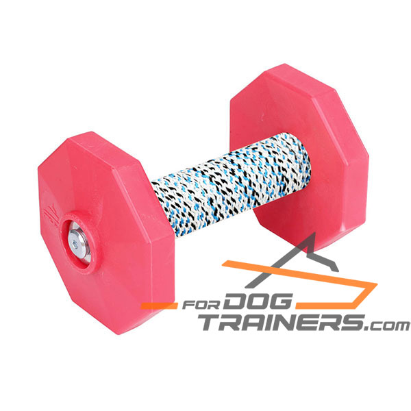 Perfect for Training Dog Dumbbell with 2 Removable Plastic Plates