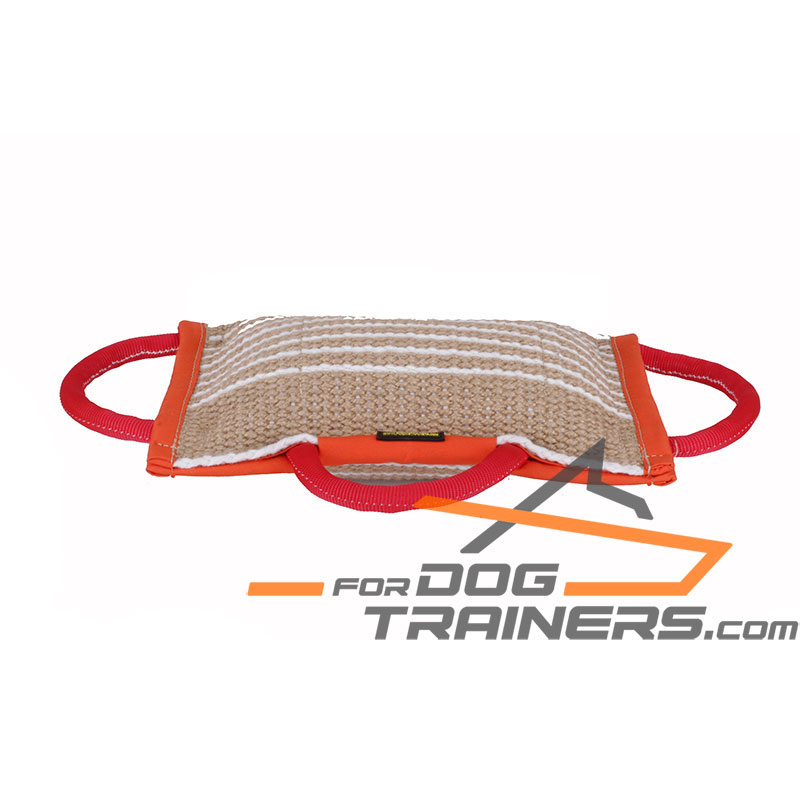 Effective Dog Training Jute Bite Pad with Handles