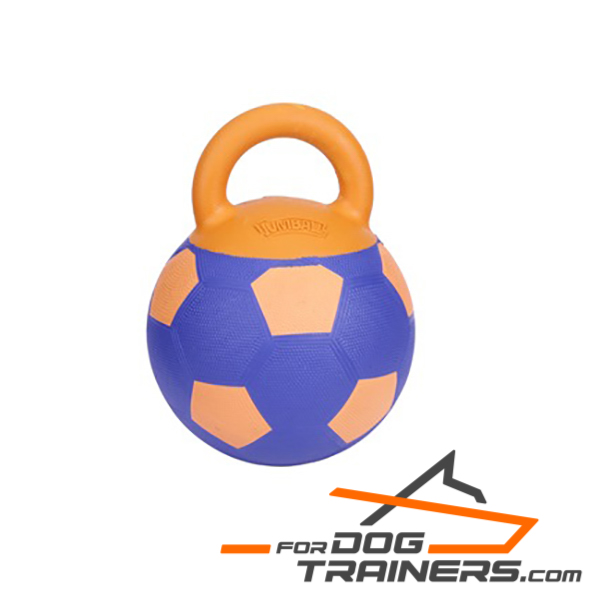 Rubber Skin Dog Toy with Handle