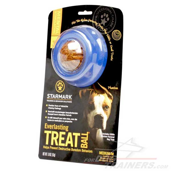 Medium Sized Rubber Dog Toy for Treat Dispensing