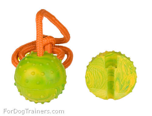 Dog training ball rubber