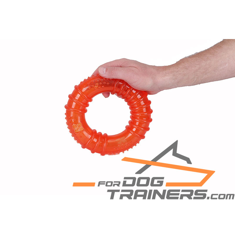Floating Rubber Dog Looper Toy for Enjoyable Pastime