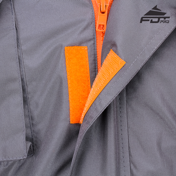 Dog training jacket with Velcro fastening