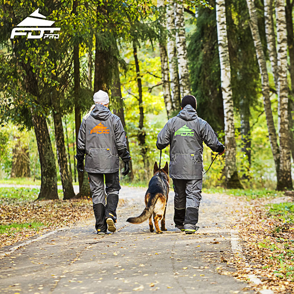 Dog training jacket for cold seasons