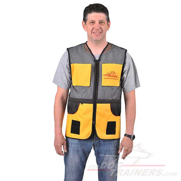 Synthetic dog training vest masterly handcrafted