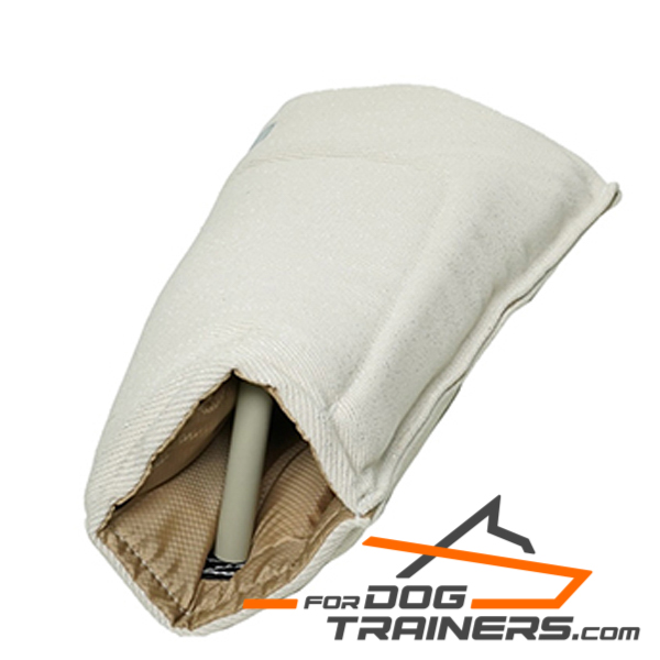 Eco-safe French Linen Dog Bite Sleeve with Strong Handle