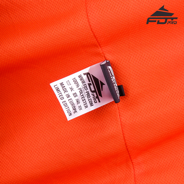 Inside label stitched into dog trainer Jacket