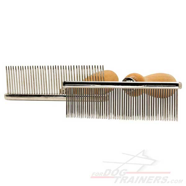 Chrome Plated Comb for dog's coat