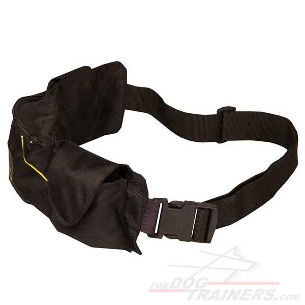 Dog Pouch made of Nylon with Pockets for Treats and Kibble