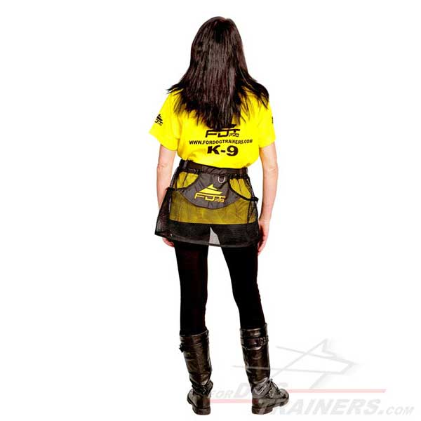Synthetic dog training skirt pouch perfectly air ventilated